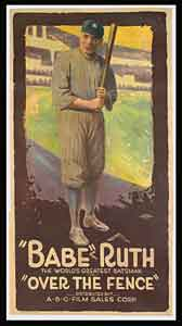 Babe Ruth <i>Over the Fence</i> movie poster