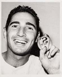 1963 Sandy Koufax Second No-Hitter Game Used Baseball Original Photograph