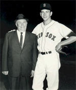 Don Schwall with Red Sox Scout, Mr. Wog Rice, 1957