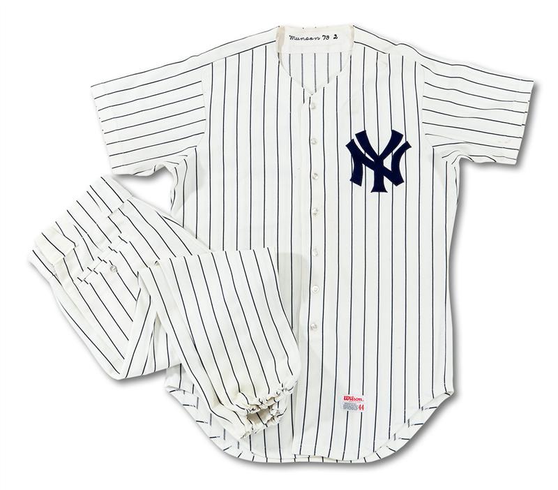 outlet store c64fd 0cb5f Final Season Uniforms of Joe DiMaggio and Thurman Munson Are ...