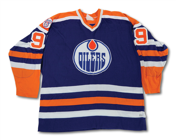 competitive price 7128b 13179 Wayne Gretzky's 1980-81 Edmonton Oilers Blue Road Jersey is ...