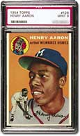 A PSA Gem Mint 10 of this Aaron card recently sold for $110,000.