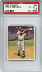 Lot 1: 1950 Bowman Robinson PSA 6.5
