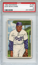 Lot 1: 1952 Topps Newcombe PSA 9