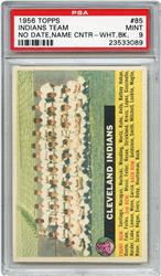 Lot 7: 1956 Topps Indians Team PSA 9