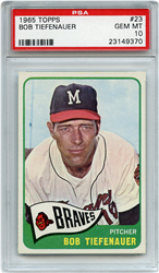 Lot 12: 1965 Topps Tiefenauer PSA 10
