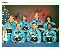 Space Shuttle Challenger crew-signed NASA 8-by-10 photo