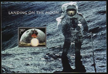 the first space shuttle on moon stamp - photo #12