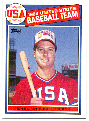 1985 Topps Tiffany #501 Mark McGwire
