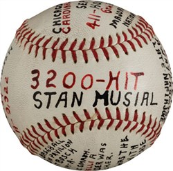 Stan Musial 3200-Hit Baseball