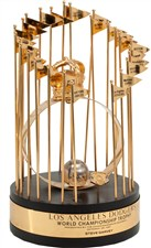Steve Garvey's 1981 Los Angeles Dodgers Personal World Series Trophy - Sold for: $39,382