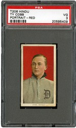 T206 Hindu Ty Cobb Portrait-Red