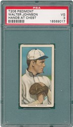 T206 Piedmont Walter Johnson (Hands at Chest)