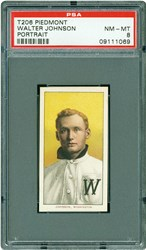 T206 Piedmont Walter Johnson (Portrait)