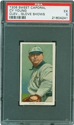 T206 Sweet Caporal Cy Young (Clev., Glove Shows)