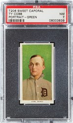 T206 Sweet Caporal Ty Cobb (Portrait-Green)