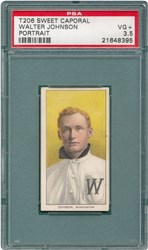 T206 Sweet Caporal Walter Johnson (Portrait)