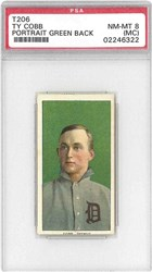 T206 Ty Cobb (Portrait-Green Back)
