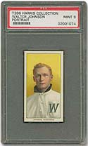 T206 Walter Johnson Graded PSA 9.