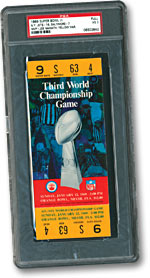 1969 Super Bowl III Ticket