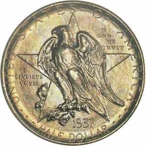1937 Texas Centennial Half Dollar Obverse
