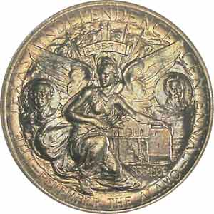 1937 Texas Centennial Half Dollar Reverse