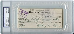 Tony Lazerri Signed Check