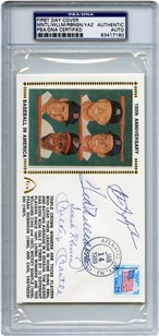 Lot 6: Triple Crown Signed FDC PSA/DNA