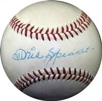 Tris Speaker Signed Baseball