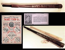 Honus Wagner Bat and 1901 Pittsburgh Pirates Program