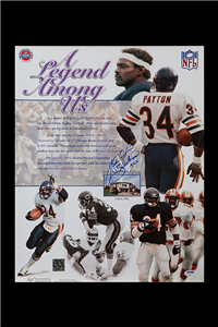 The Walter Payton autographed poster that will be given away by PSA at the National Sports Collectors Convention on July 30, 2015.