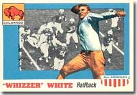 Byron ''Whizzer'' White led the NFL in rushing in 1938.