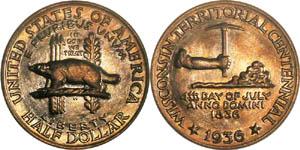 Wisconsin Territorial Centennial Half Dollar