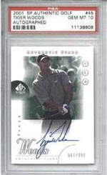 Tiger Woods' SP RC, autographed, will be a card to cherish for years and years -- especially a PSA 10 version.