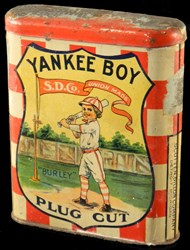 Early 20th Century 'Yankee Boy' Tobacco Tin