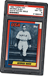 President George Bush Yale Baseball Card
