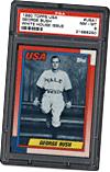 President George Bush Yale Baseball Card