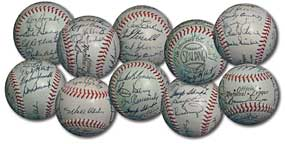 Dodger team ball