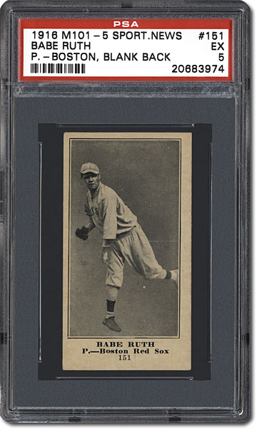 The 1916 ''Sporting News'' M101-4 and M101-5 Baseball Card ...