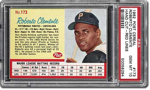 Psa Set Registry Collecting Roberto Clemente Cards