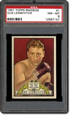 Psa set registry the 1951 topps ringside boxing card set a vintage
