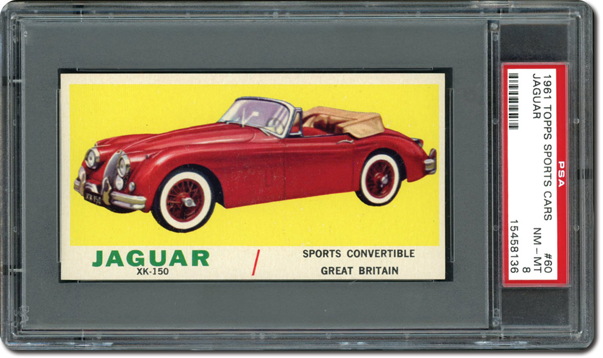 The 1961 Topps Sports Cars Card Set Sleek Stylish Fast