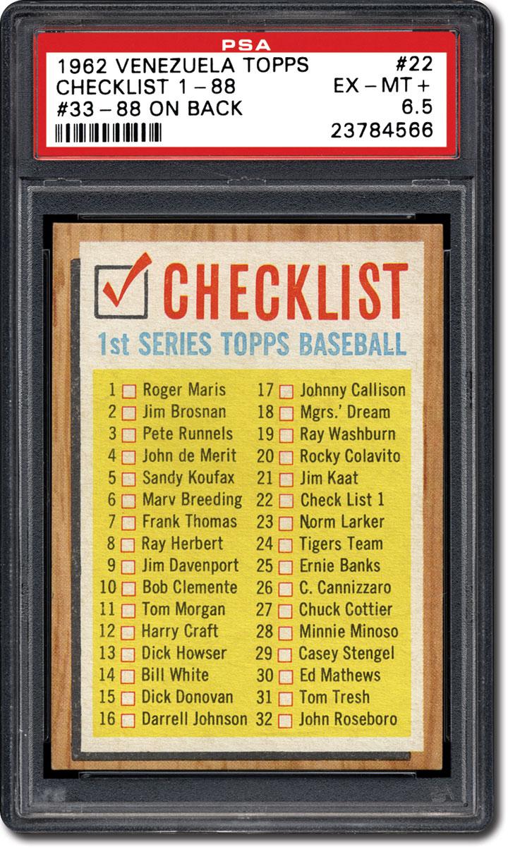 Collecting The 1962 Venezuelan Topps Baseball Card Set
