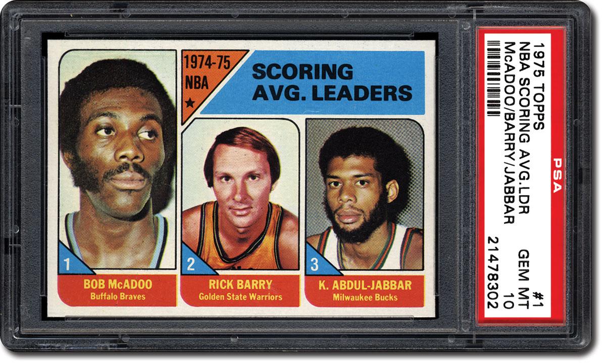 PSA Set Registry The 1975 Topps Basketball Card Set Pursuing