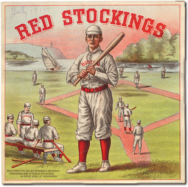 Red Stockings label
