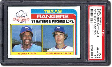 Rangers Batting & Pitching Leaders