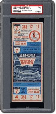 1968 World Series ticket