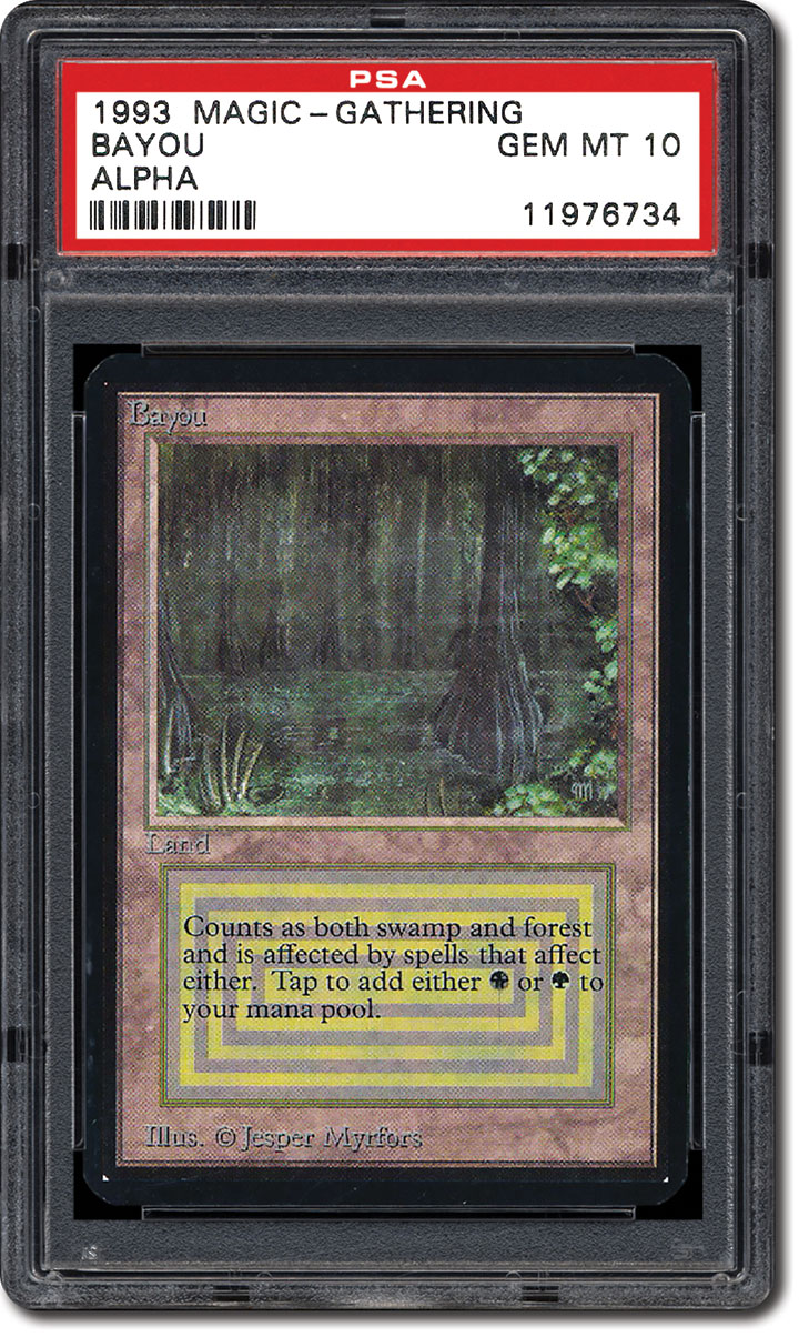Psa Set Registry Collecting The 1993 Magic The Gathering Alpha
