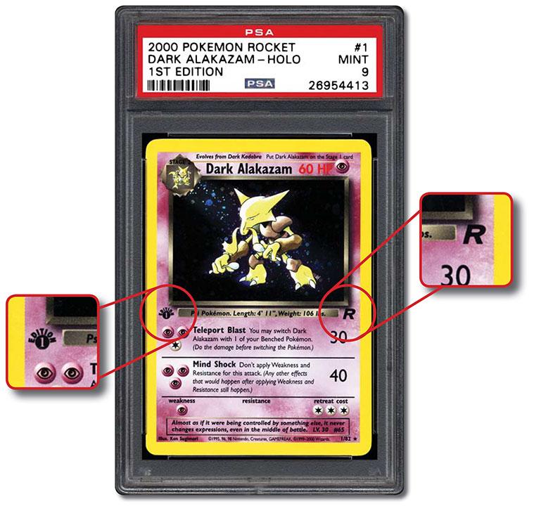 Lot of 10 1st Edition Team Rocket Dark Pokemon Cards Wizards WOTC Originals