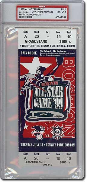 PSA Set Registry: MLB All-Star Game Ticket Registry Set